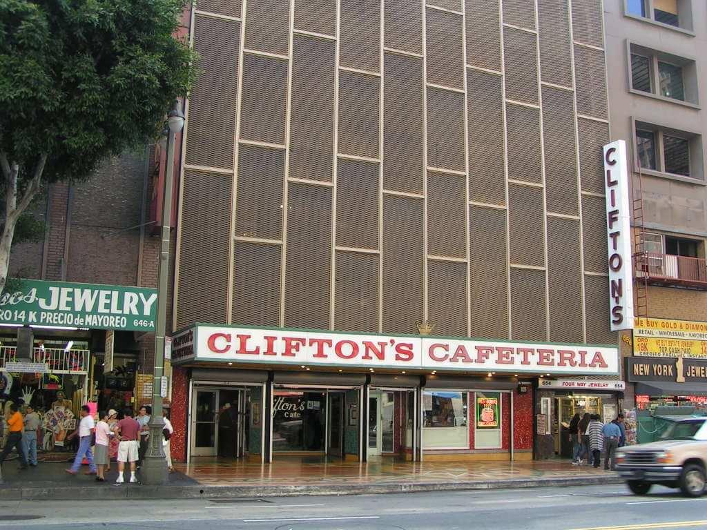 Clifton's facade from the 1960s