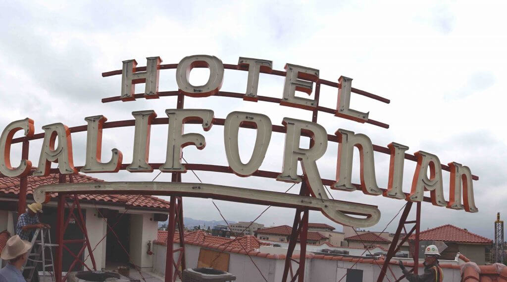 Historic Hotel Californian neon sign rededication