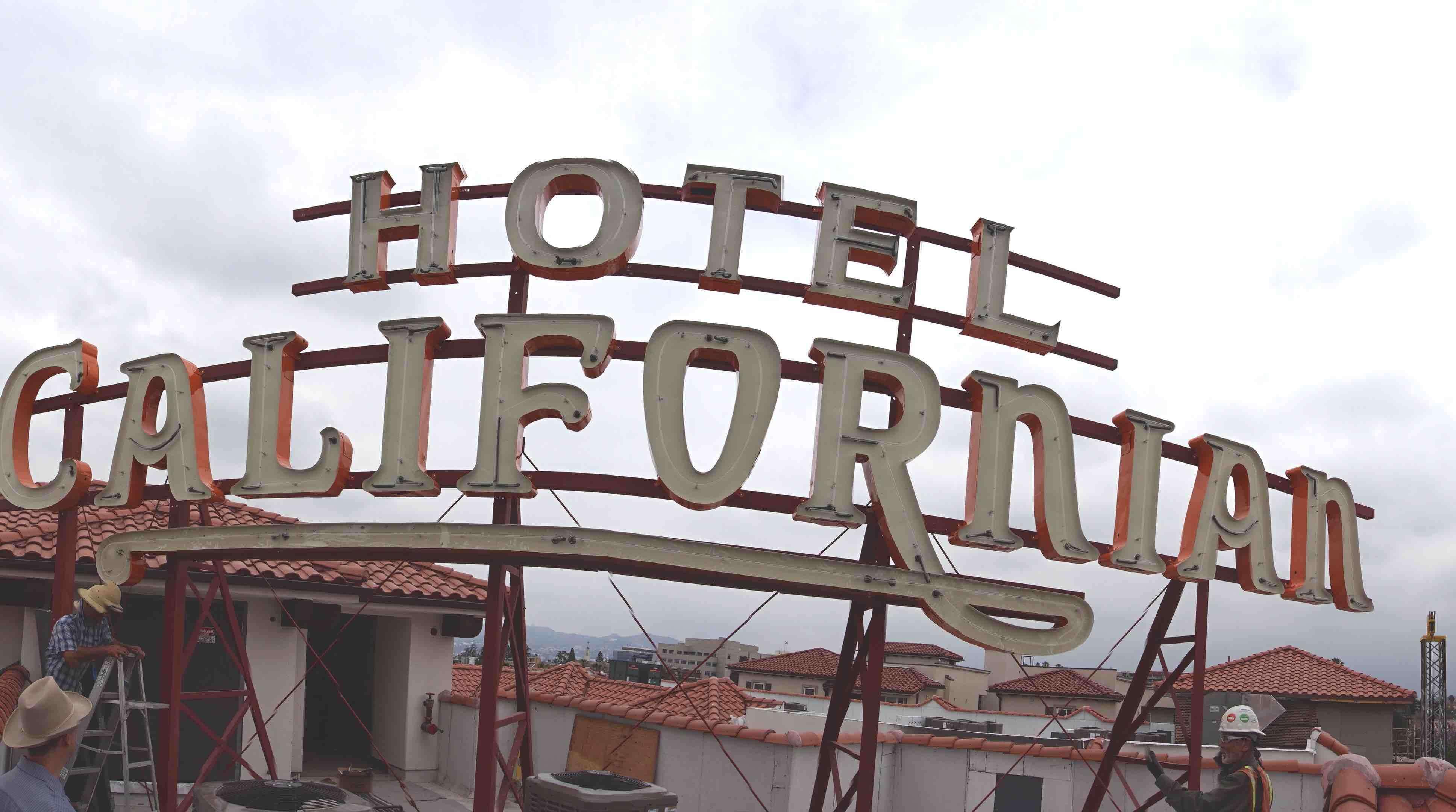 Historic Hotel Californian neon sign rededication